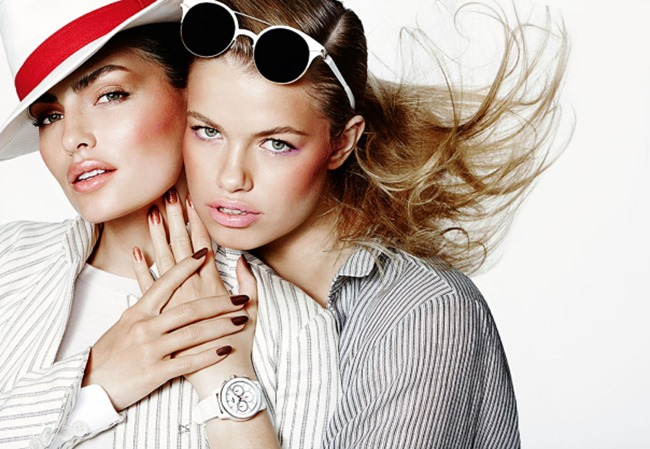 ALLURE MAGAZINE Alyssa Miller & Hailey Clauson in Loud & Clear by Mario Testino. March 2014, www.imageamplified.com, Image Amplified (4)
