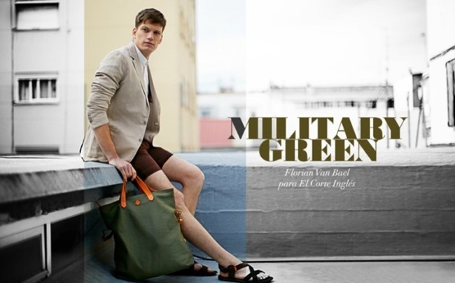CAMPAIGN Florian Van Bael in Military Green  for El Corte Ingles Spring 2014 by Alejandro Pereira. Daniel Gonzalez, www.imageamplified.com, Image Amplified (2)