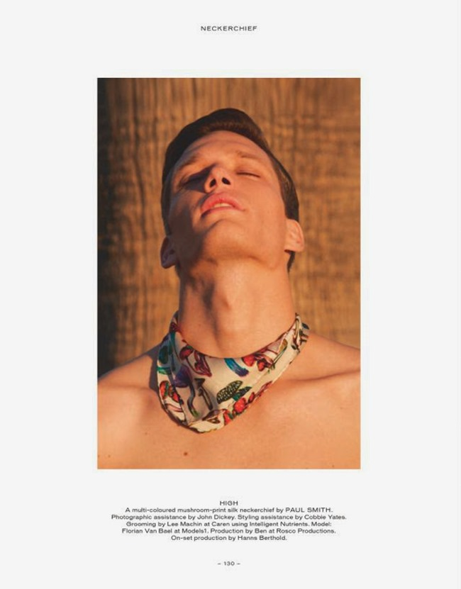 FANTASTIC MAN MAGAZINE Florian Van Bael in Neckerchief by Daniel Riera. Julian Ganio, Spring 2014, www.imageamplified.com, Image Amplified (1)