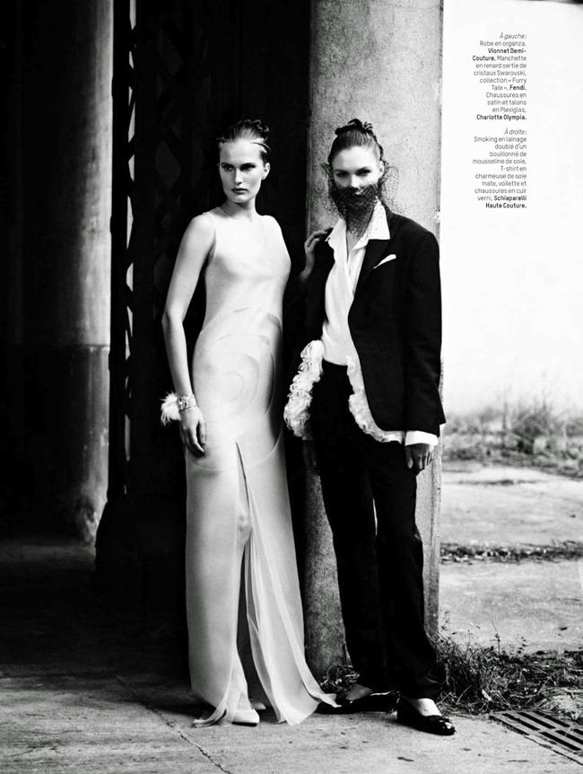 L'OFFICIEL PARIS Alla Kostromichova & Alexandra Martynova in Haute Culture by Stian Foss. Audrey Marnay, April 2014, www.imageamplified.com, Image Amplified (7)