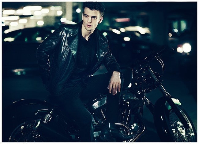 CAFE MAGAZINE Benjamin Eidem in Leather Jackets by Andreas Kock. Emine Sander, Spring 2014, www.imageamplified.com, Image Amplified (4)