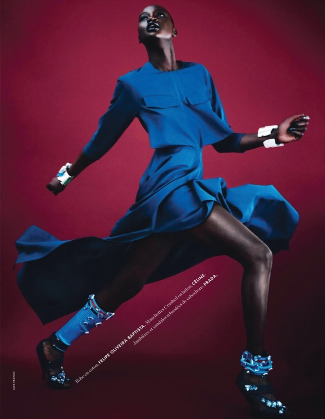 ELLE FRANCE Ataui Deng in Grand Bleu by Alex Franco. Jeanne le Bault, May 2014, www.imageamplified.com, Image Amplified (9)