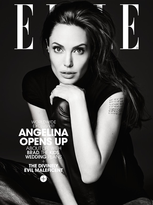 ELLE MAGAZINE Angelina Jolie in Untamed Heart by Hedi Slimane. Joe Zee, June 2014, www.imageamplified.com, Image Amplified (1)