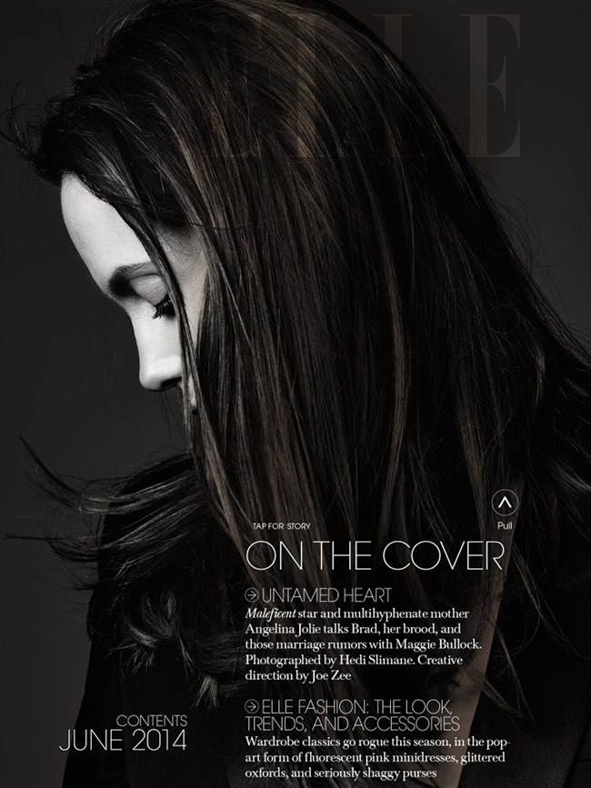 ELLE MAGAZINE Angelina Jolie in Untamed Heart by Hedi Slimane. Joe Zee, June 2014, www.imageamplified.com, Image Amplified (2)