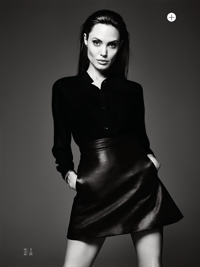 ELLE MAGAZINE Angelina Jolie in Untamed Heart by Hedi Slimane. Joe Zee, June 2014, www.imageamplified.com, Image Amplified (9)