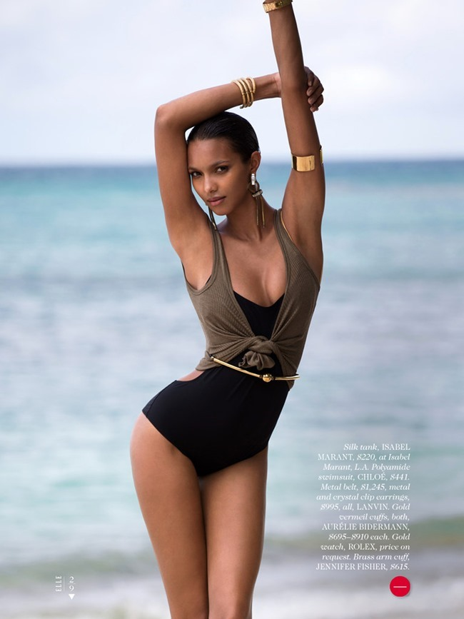 ELLE MAGAZINE Lais Ribeiro in Shore Thing by David Bellemere. Samira Nasr, June 2014, www.imageamplified.com, Image Amplified (2)