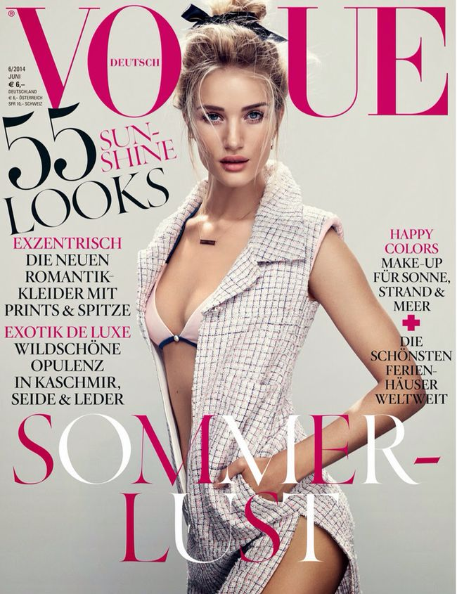 PREVIEW:  Rosie Huntington-Whiteley for Vogue Germany, June 2014 by Camilla Åkrans. Spring 2014, www.imageamplified.com, Image Amplified