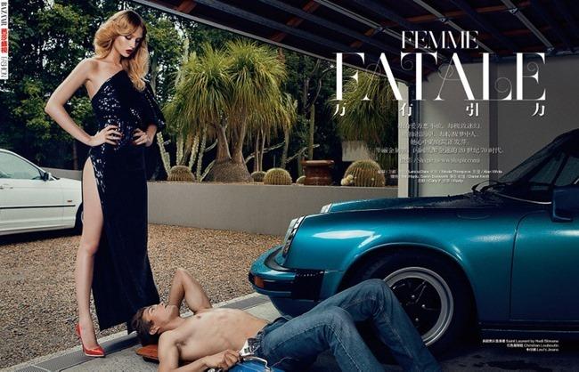 HARPER'S BAZAAR CHINA Niki Hajdu in Femme Fatale by Shxpir. Leticia Dare, Spring 2014, www.imageamplified.com, Image Amplified (1)