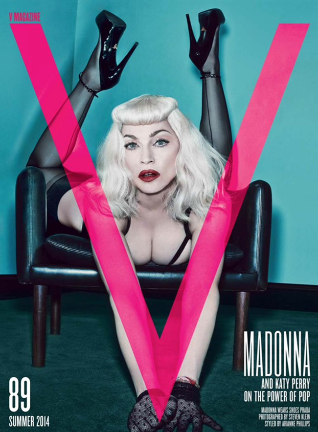 PREVIEW Madonna & Katy Perry for V Magazine, Summer 2014 3 Covers by Photographer Steven Klein. www.imageamplified.com, Image Amplified (2)