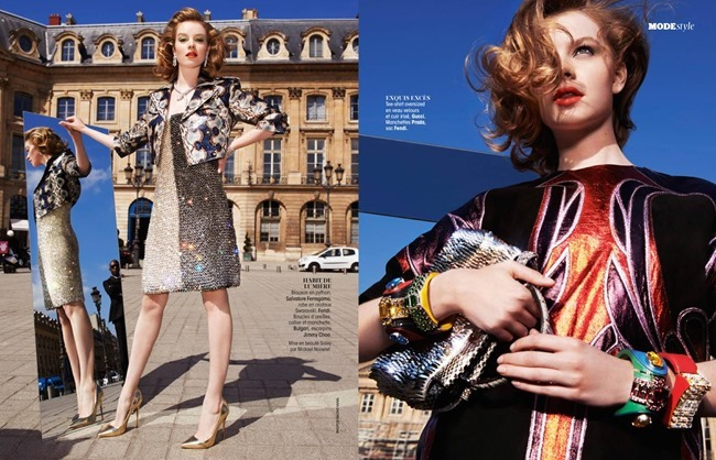 MADAME FIGARO FRANCE Gwen Loos in Le Chic Glitter by Naomi Yang. Sophie Michaud, May 2014, www.imageamplified.com, Image Amplified (3)