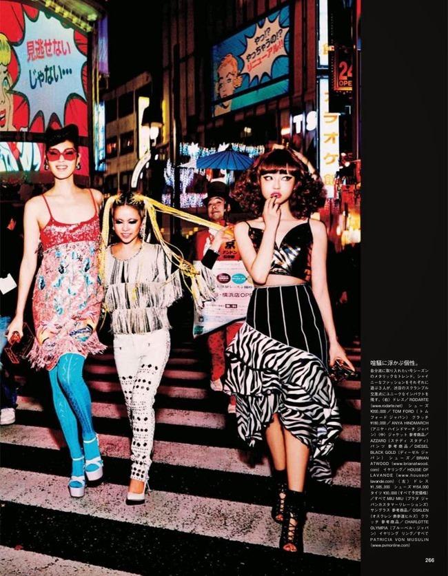 VOGUE JAPAN Tokyo Neon Girls by Ellen von Unwerth. Elizabeth Sulcer, July 2014, www.imageamplified.com, Image amplified (4)