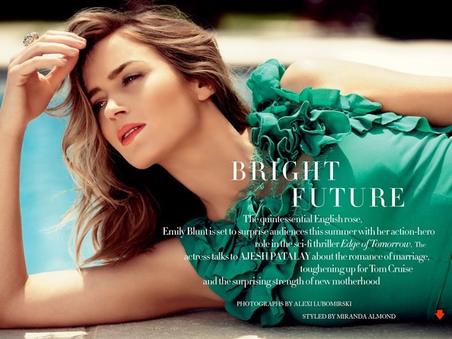 HARPER'S BAZAAR UK Emily Blunt in Bright Future by Alexi Lubomirski. Miranda Almond, July 2014, www.imageamplified.com, Image Amplified (6)