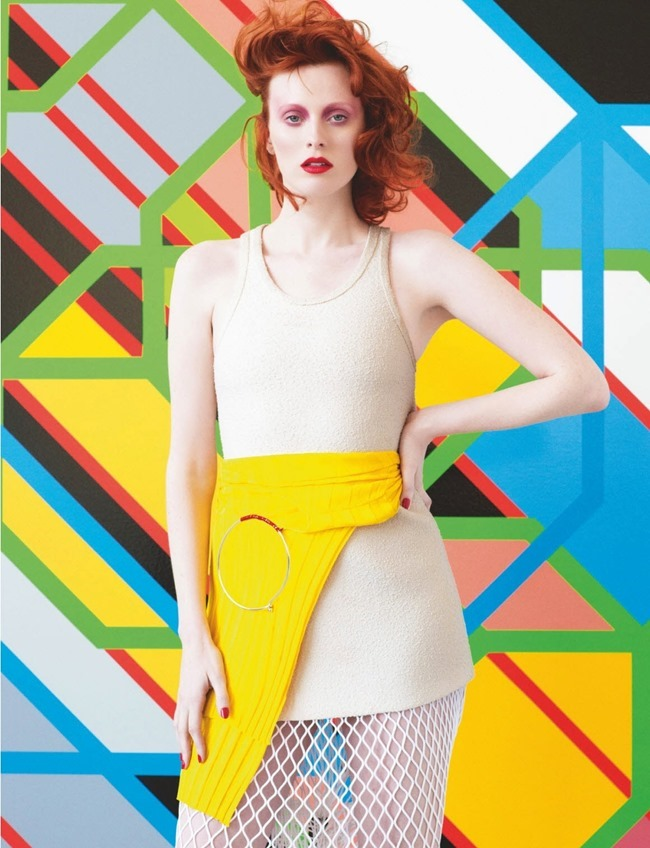 NUMERO MAGAZINE Karen Elson in Sarah Morris by Victor Demarchelier. Charles Varenne, July 2014, www.imageamplified.com, Image Amplified (6)
