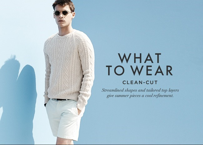 CAMPAIGN Miles Garber in What To Wear for Club Monaco Summer 2014.  www.imageamplified 0b38735877