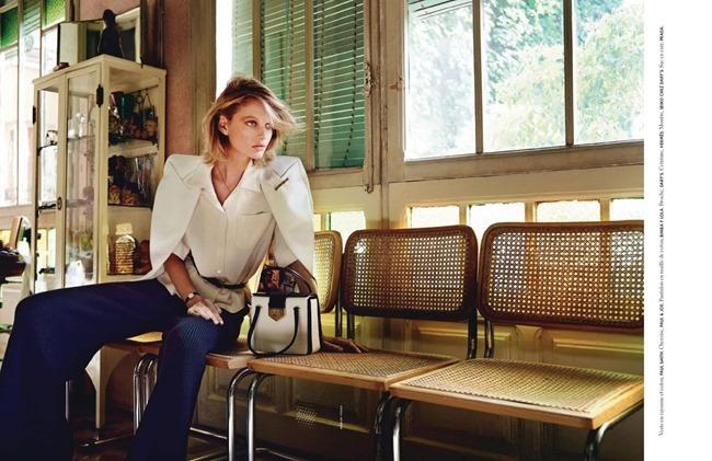 ELLE FRANCE Patricia Van Der Vliet in Une Lecon De Style Riviera by Marcin Yszka. Anne-Marie Brouillet, June 2014, www.imageamplified.com, Image Amplified