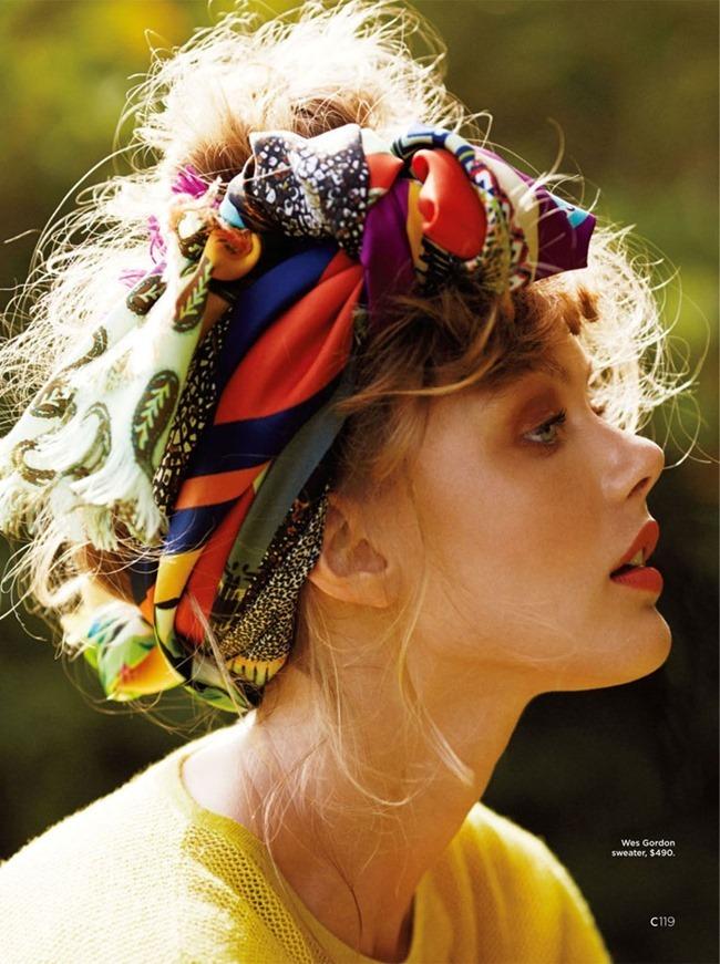 C MAGAZINE Frida Gustavsson in Bird of Paradise by Hilary Walsh. Samantha Traina, Summer 2014, www.imageamplified.com, Image Amplified (9)