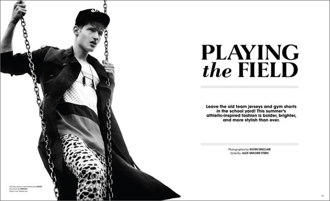 ESSENTIAL HOMME MAGAZINE Tino Thielens in Playing the Fields by Kevin Sinclair. Alex Van der Steen, July 2014, www.imageamplified.com, Image Amplified (1)