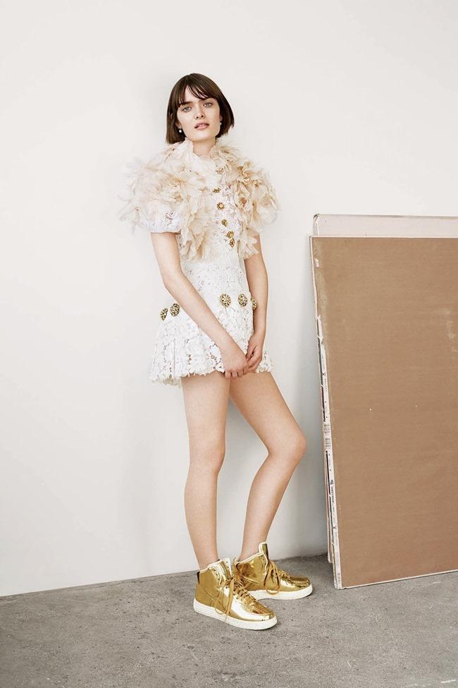WSJ MAGAZINE Sam Rollinson in Kick It In Couture by Maciek Kobielski. Anastasia Barbieri, August 2014, www.imageamplified.com, Image Amplified (2)