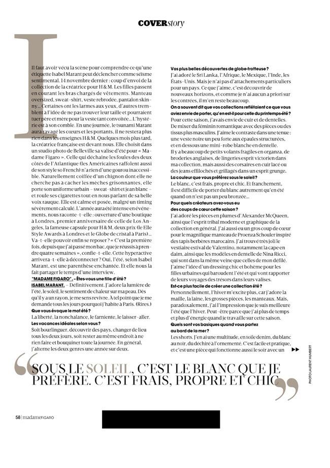 MADAME FIGARO FRANCE Julia Frauche in L'ete D'isabel Marant by Laurent Humbert. Julie Gillet, June 2014, www.imageamplified.com, Image Amplified (4)