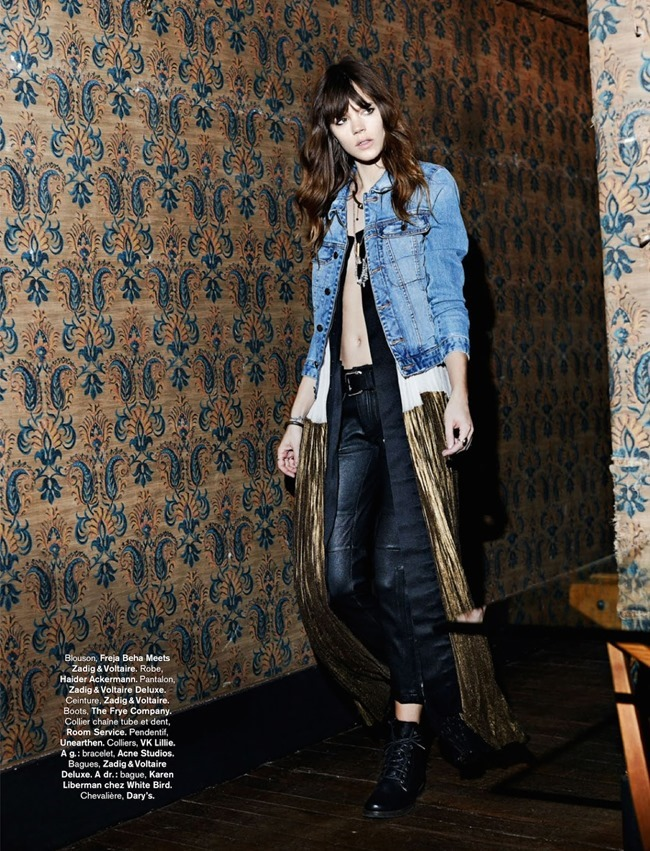 GLAMOUR FRANCE Freja Beha Erichsen in Rock & Folk by Fred Meylan. Marine Braunschvig. August 2014, www.imageamplified.com, Image Amplified (5)