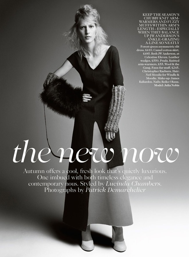 VOGUE UK Julia Nobis in The New Now by Patrick Demarchelier. Lucinda Chambers, August 2014, www.imageamplified.com, Image Amplified (1)