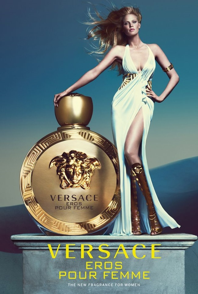 CAMPAIGN Lara Stone for Versace Eros Pour Femme Fragrance by Mert & Marcus. www.imageamplified.com, Image Amplified