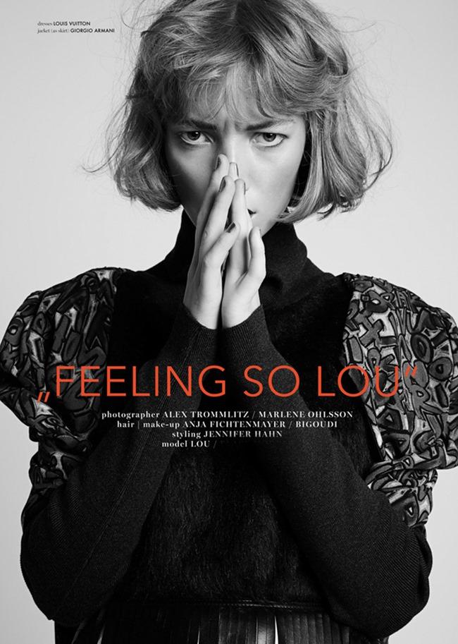 74 MAGAZINE Lou Schoof by Alex Trommlitz & Marlene Ohlsson. Jennifer Hahn, Fall 2014, www.imageamplified.com, Image Amplified (5)