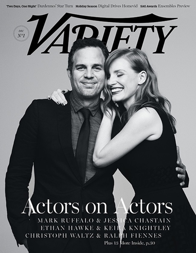 VARIETY MAGAZINE Jessica Chastain & Mark Ruffalo by Ben Hassett. December 2014, www.imageamplified.com, Image Amplified (2)