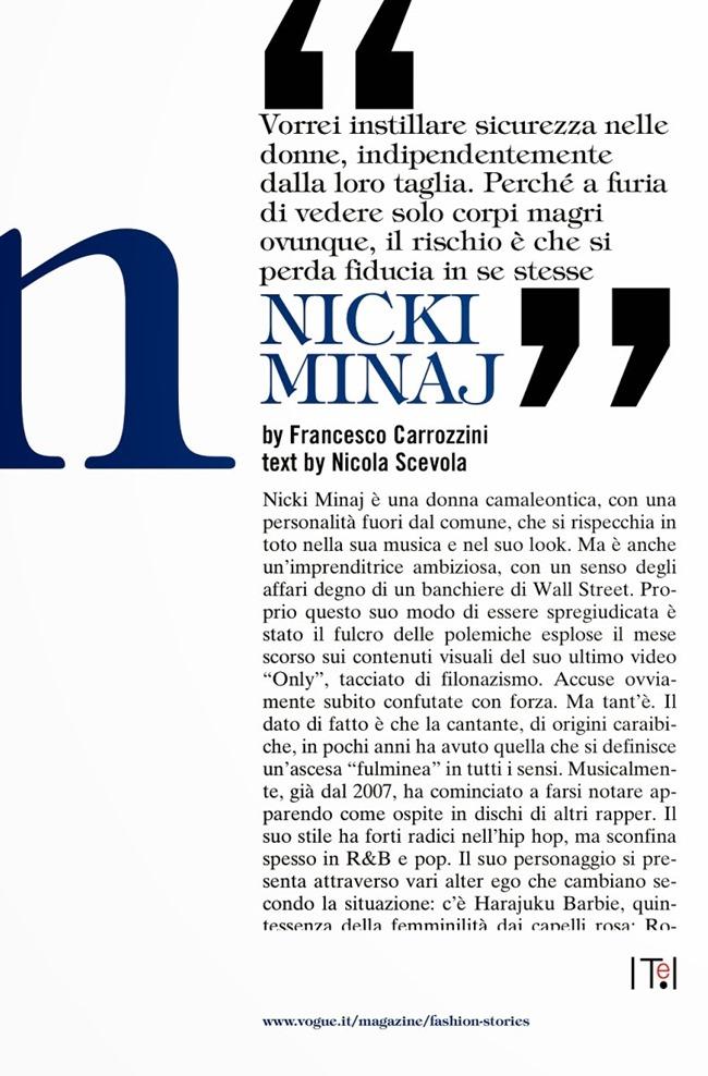 VOGUE ITALIA Nicki Minaj by Francesco Carrozzini. Rushka Bergman, December 2014, www.imageamplified.com, Image Amplified (6)