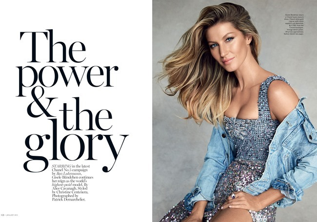VOGUE AUSTRALIA Gisele Bundchen by Patrick Demarchelier. Christine Centenera, January 2015, www.imageamplified.com, Image Amplified (2)
