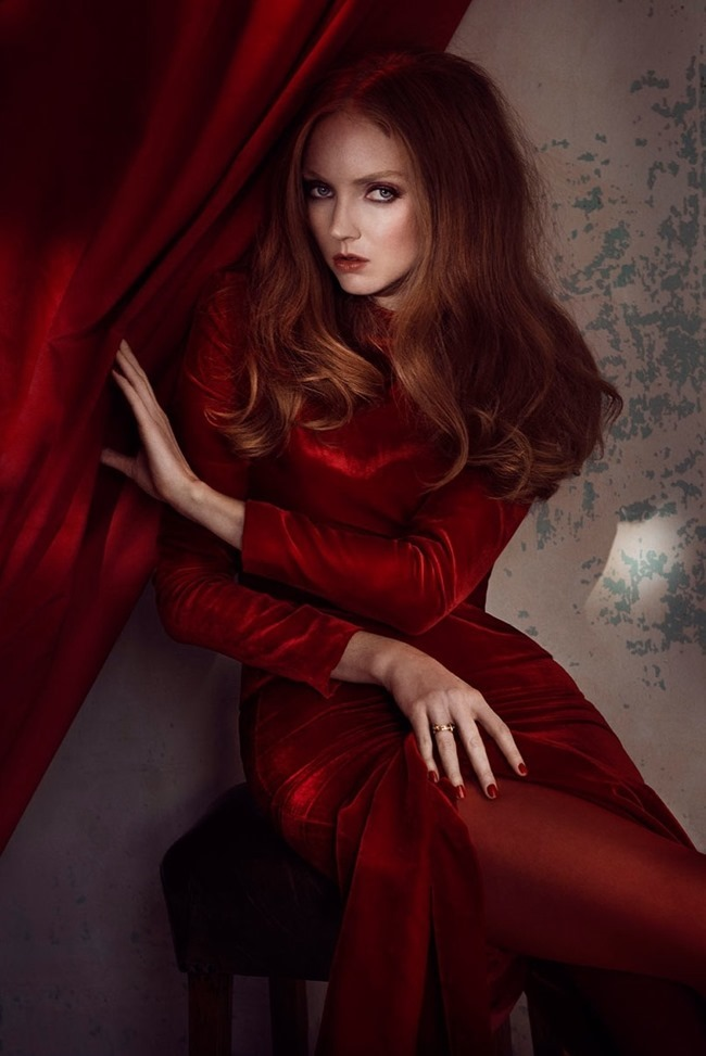 GLAMOUR ITALIA Lily Cole by Signe Vilstrup. Sascha Lillic, January 2015, www.imageamplified.com, Image Amplified (3)