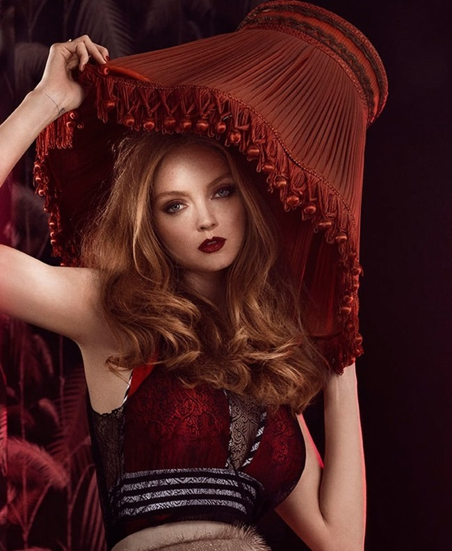 GLAMOUR ITALIA Lily Cole by Signe Vilstrup. Sascha Lillic, January 2015, www.imageamplified.com, Image Amplified (5)