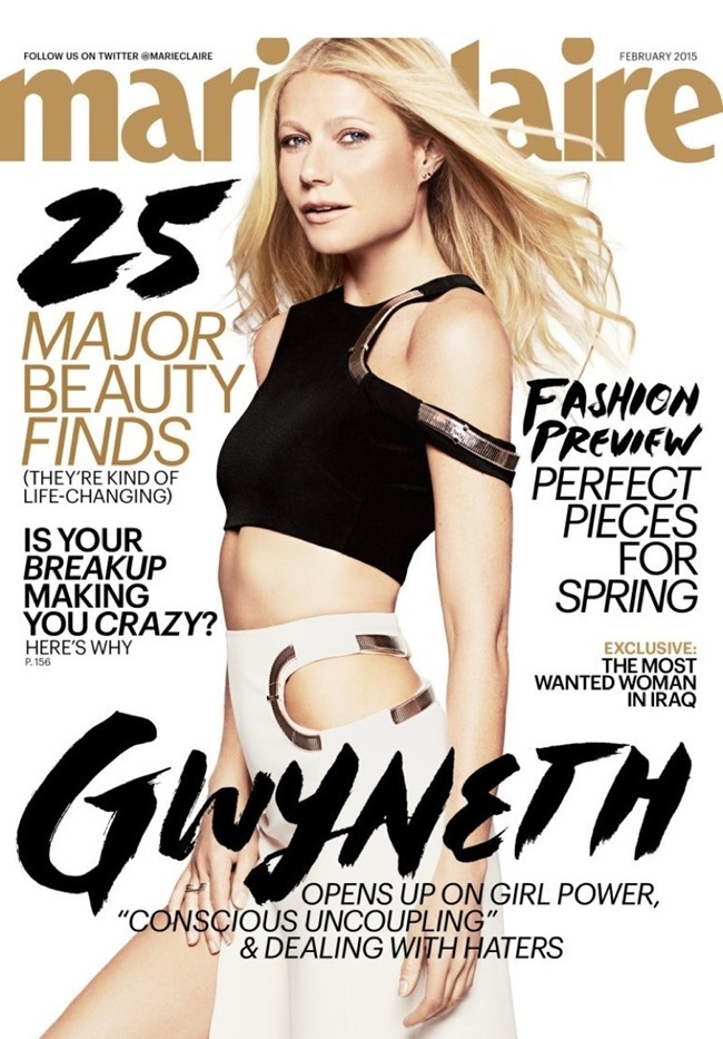 MARIE CLAIRE MAGAZINE Gwyneth Paltrow by Jan Welters. February 2015, www.imageamplified.com, Image Amplified (1)