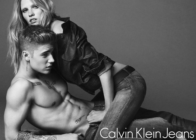 CAMPAIGN Justin Bieber & Lara Stone for Calvin Klein Jeans Spring 2015 by Mert & Marcus. www.imageamplified.com, Image Amplified (1)