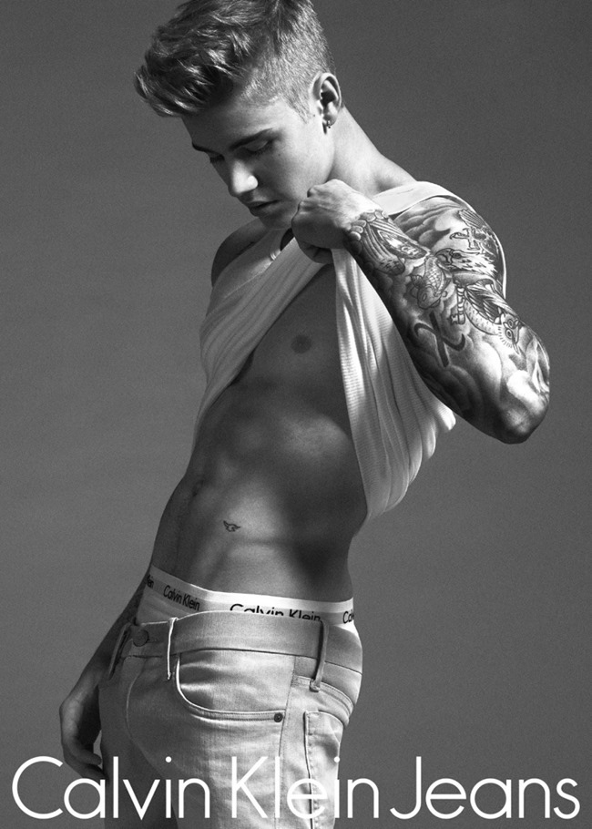 CAMPAIGN Justin Bieber & Lara Stone for Calvin Klein Jeans Spring 2015 by Mert & Marcus. www.imageamplified.com, Image Amplified (3)