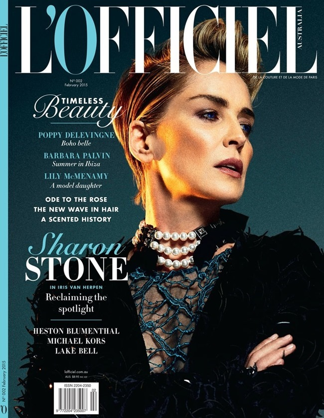 L'OFFICIEL AUSTRALIA Sharon Stone by Jack Waterlot. Amy Mach, February 2015, www.imageamplified.com, Image Amplified (2)