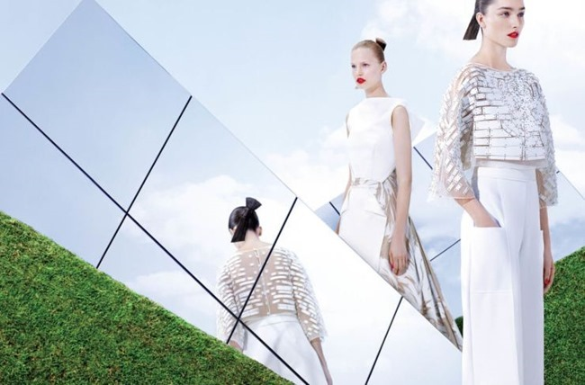 CAMPAIGN Elisabeth Erm & Josephine Le Tutour for Carolina Herrera Spring 2015 by Willy Vanderperre, www.imageamplified.com, Image Amplified (3)