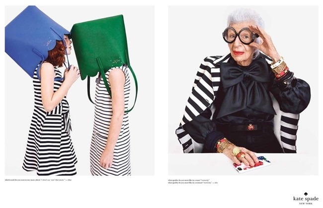 CAMPAIGN Karlie Kloss & Iris Apfel for Kate Spade Spring 2015 by Emma Summerton. www.imageamplified.com, Image Amplified (1)
