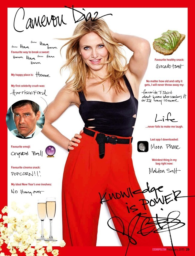 COSMOPOLITAN AUSTRALIA Cameron Diaz by Matthias Vriens-McGrath. Aya Kanai, February 2015, www.imageamplified.com, Image Amplified (2)