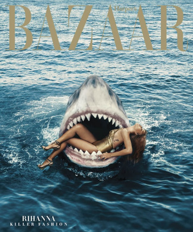 HARPER'S BAZAAR MAGAZINE Rihanna by Norman Jean roy. March 2015, www.imageamplified.com, Image Amplified (10)
