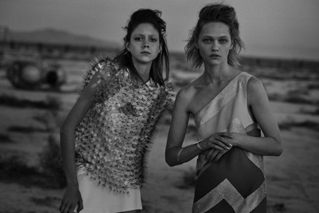W MAGAZINE Sasha Pivovarova & Natalie Westling by Peter Lindbergh. Sarah Richardson, March 2015, www.imageamplified.com, Image Amplified (6)
