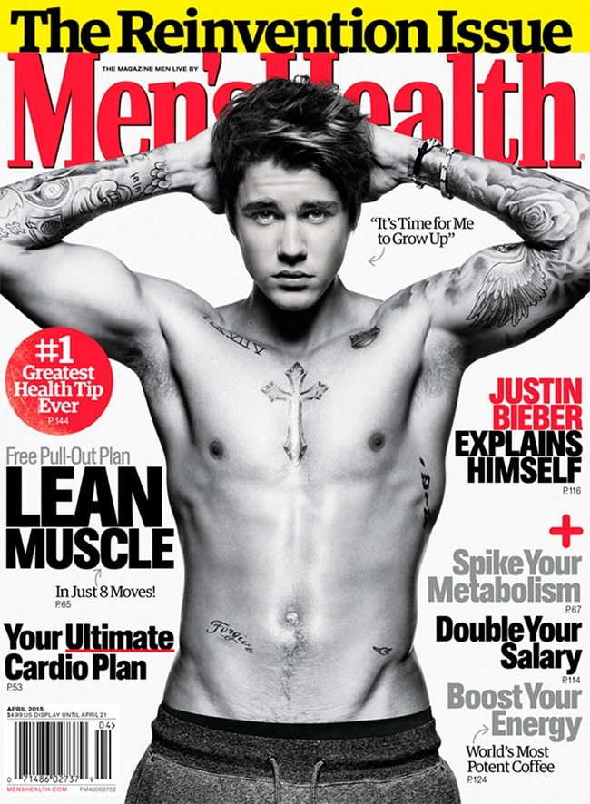 MEN'S HEALTH MAGAZINE Justin Bieber by Peter Hapak. spring 2015, www.imageamplified.com, Image Amplified (1)