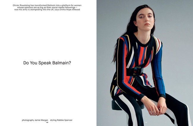 DAZED & CONFUSED MAGAZINE Do You Speak Balmain by Jamie Morgan. Robbie Spencer, Spring 2015, www.imageamplified.com, Image Amplified (1)