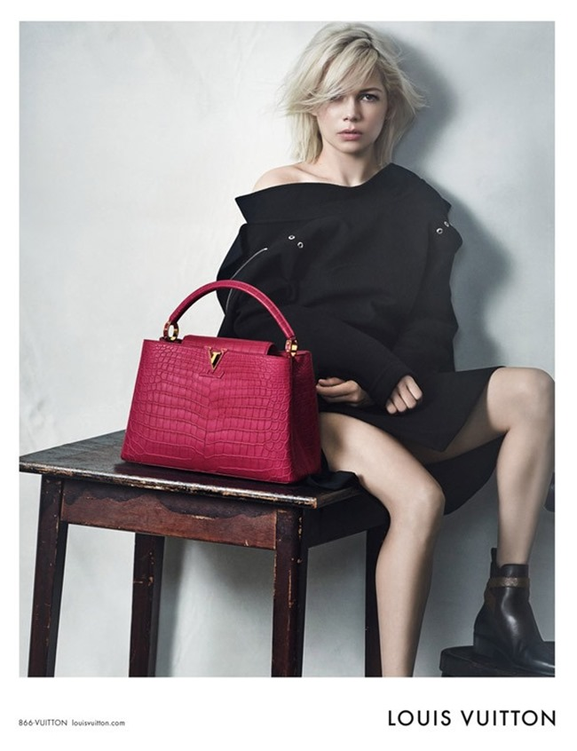 CAMPAIGN Michelle Williams for Louis Vuitton by Peter Lindbergh. Spring 2015, www.imageamplified.com, Image Amplified (1)