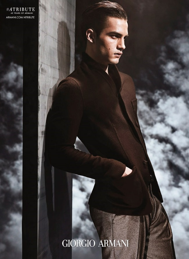 CAMPAIGN Aleksander Rusic for Giorgio Armani Fall 2015 by Solve Sundsbo. www.imageamplified.com, Image Amplified (4)