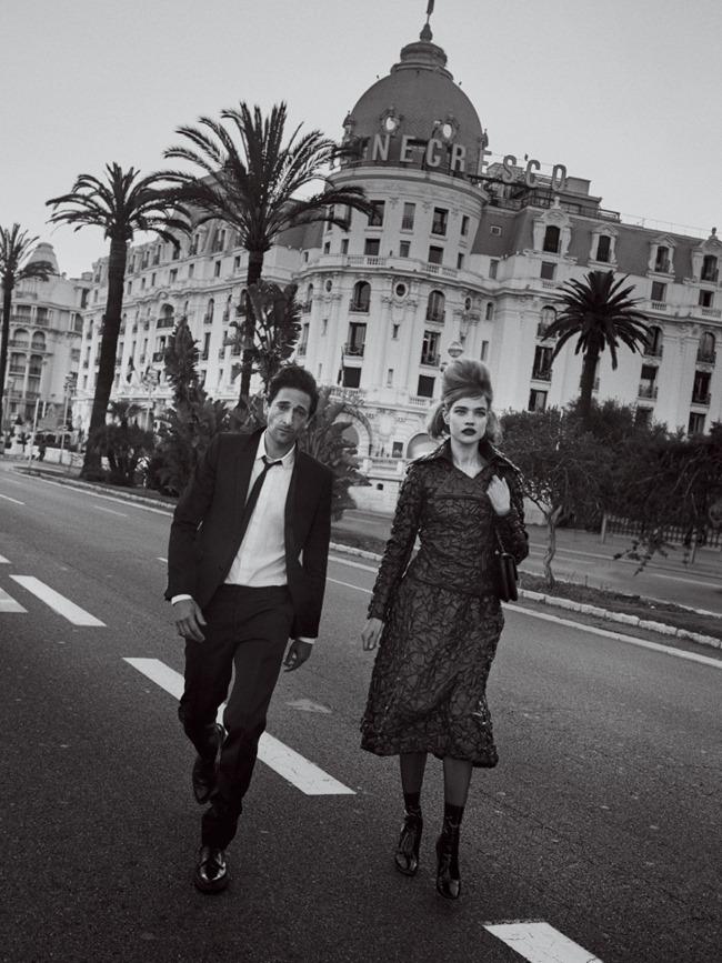 VOGUE MAGAZINE Natalia Vodianova & Adrien Brody by Peter Lindbergh. Grace Coddington, Michael Philouze, July 2015, www.imageamplified.com, Image Amplified (2)