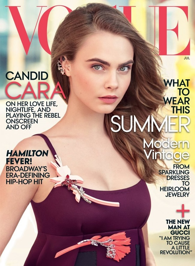 VOGUE MAGAZINE Cara Delevigne by Patrick Demarchelier. Tonne Goodman, July 2015, www.imageamplified.com, Image Amplified (8)