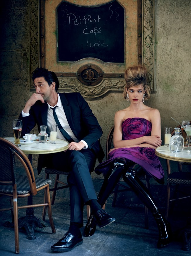 VOGUE MAGAZINE Natalia Vodianova & Adrien Brody by Peter Lindbergh. Grace Coddington, Michael Philouze, July 2015, www.imageamplified.com, Image Amplified (8)