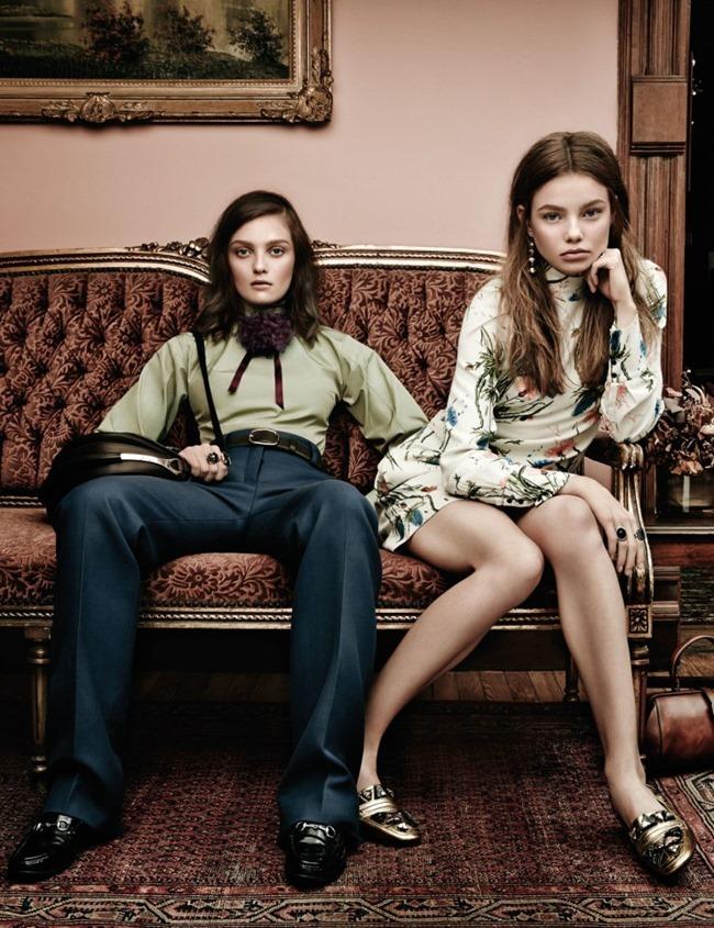 W MAGAZINE Kristine Froseth & Julia Belyakova by Jason Kibbler. Patrick Mackie, September 2015, www.imageamplified.com, Image Amplified (1)