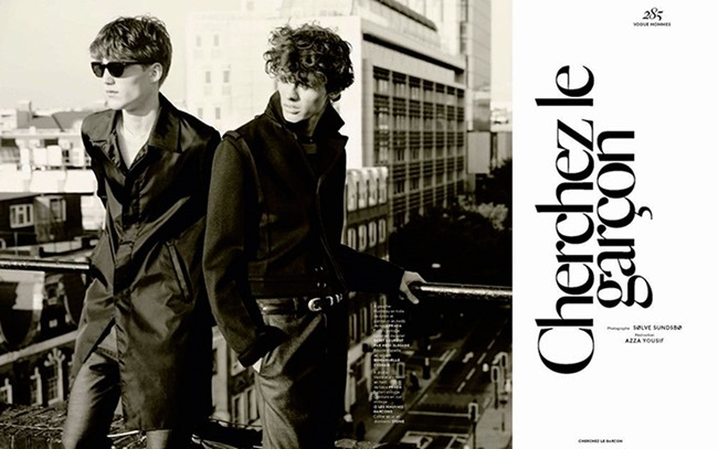 VOGUE HOMMES Cherchez le Garcon by Solve Sundsbo. Azza Yousif, Fall 2015, www.imageamplified.com, Image Amplified (2)